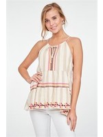 L Love Embroidery Halter Neck
