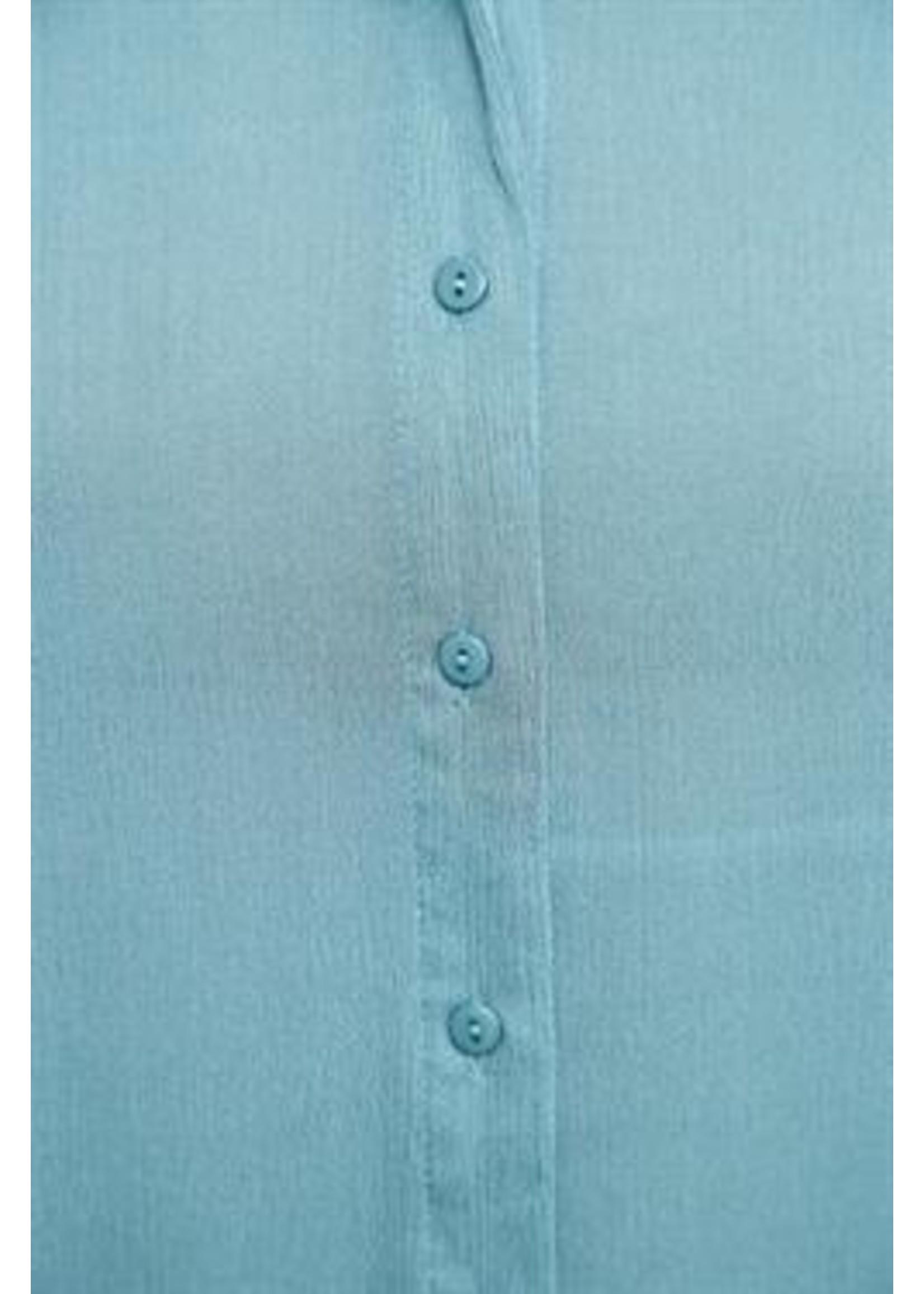 L Love Blue Ruffled Loose Top