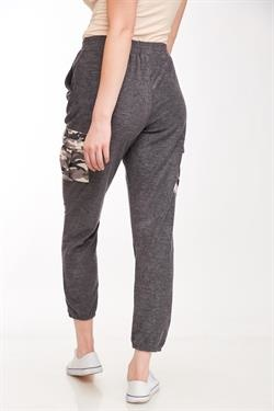 L Love Grey Camo Pocket Joggers