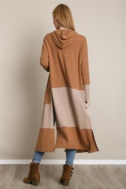 L Love Color Block Maxi Sweater