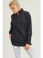 Mono B Black Active Half-Zipped Sweatshirt