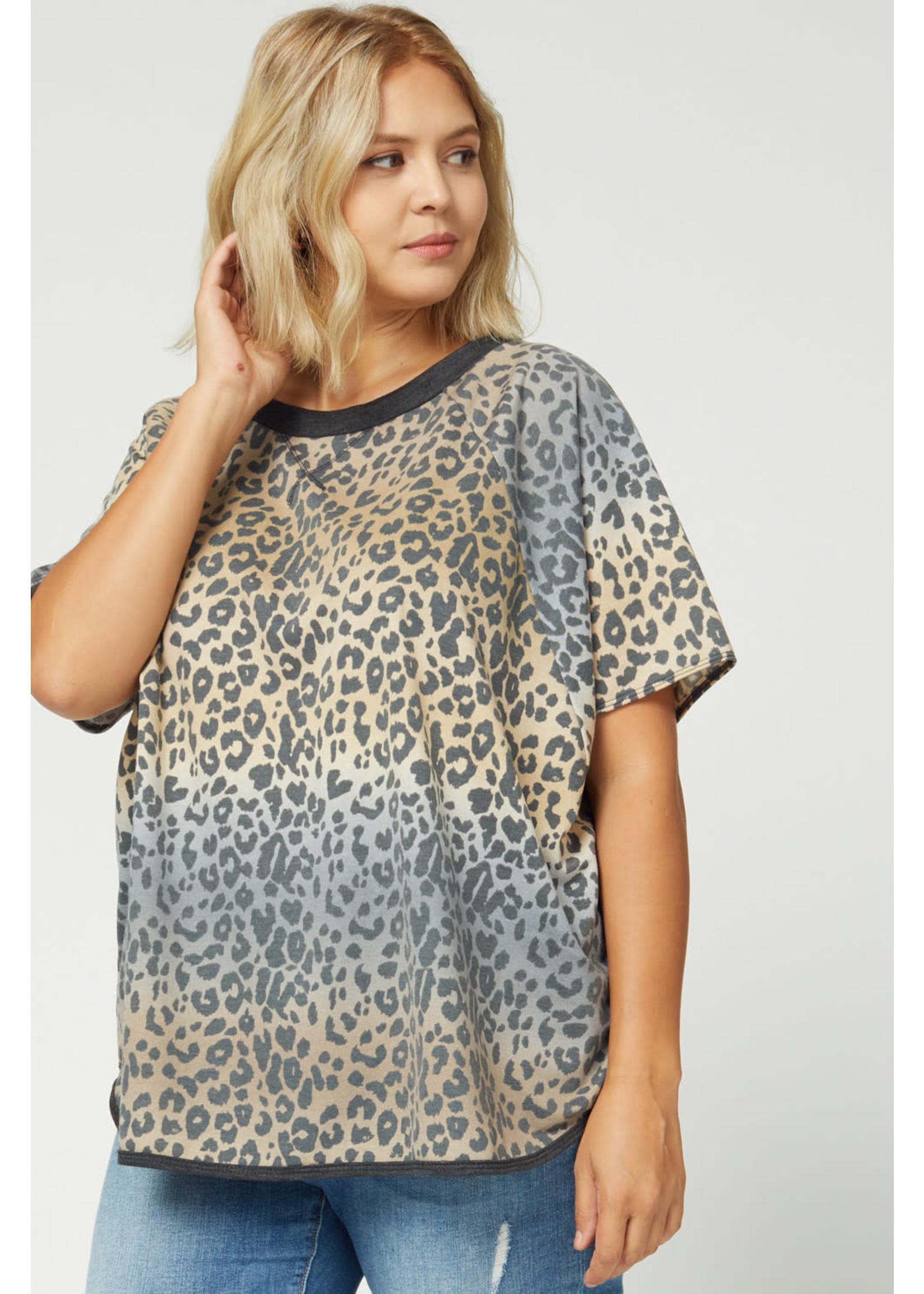 entro Leopard print round neck top