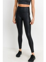 Mono B Triple Zippered pocket high waist foil legging