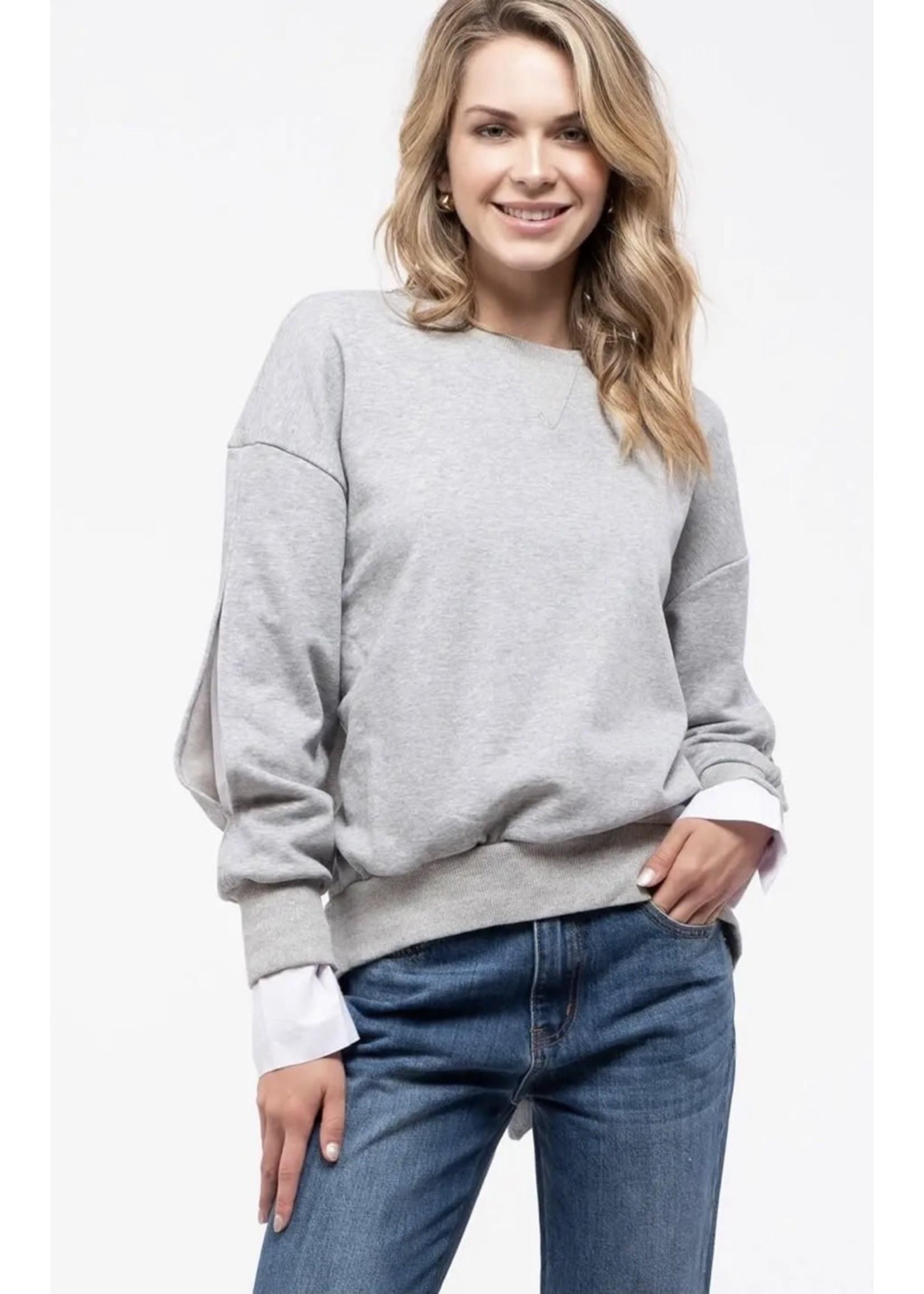 Blu Pepper High Rise Back Sweater