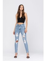 Judy Blue Judy Blue destroyed high waisted skinny cuffed