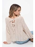 Blu Pepper Knit Texture Sweater-Oatmeal