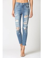 Hidden Jean Amelia-distressed skinny jeans-medium wash