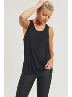 Mono B Tank Top Open Overlay Back-blk