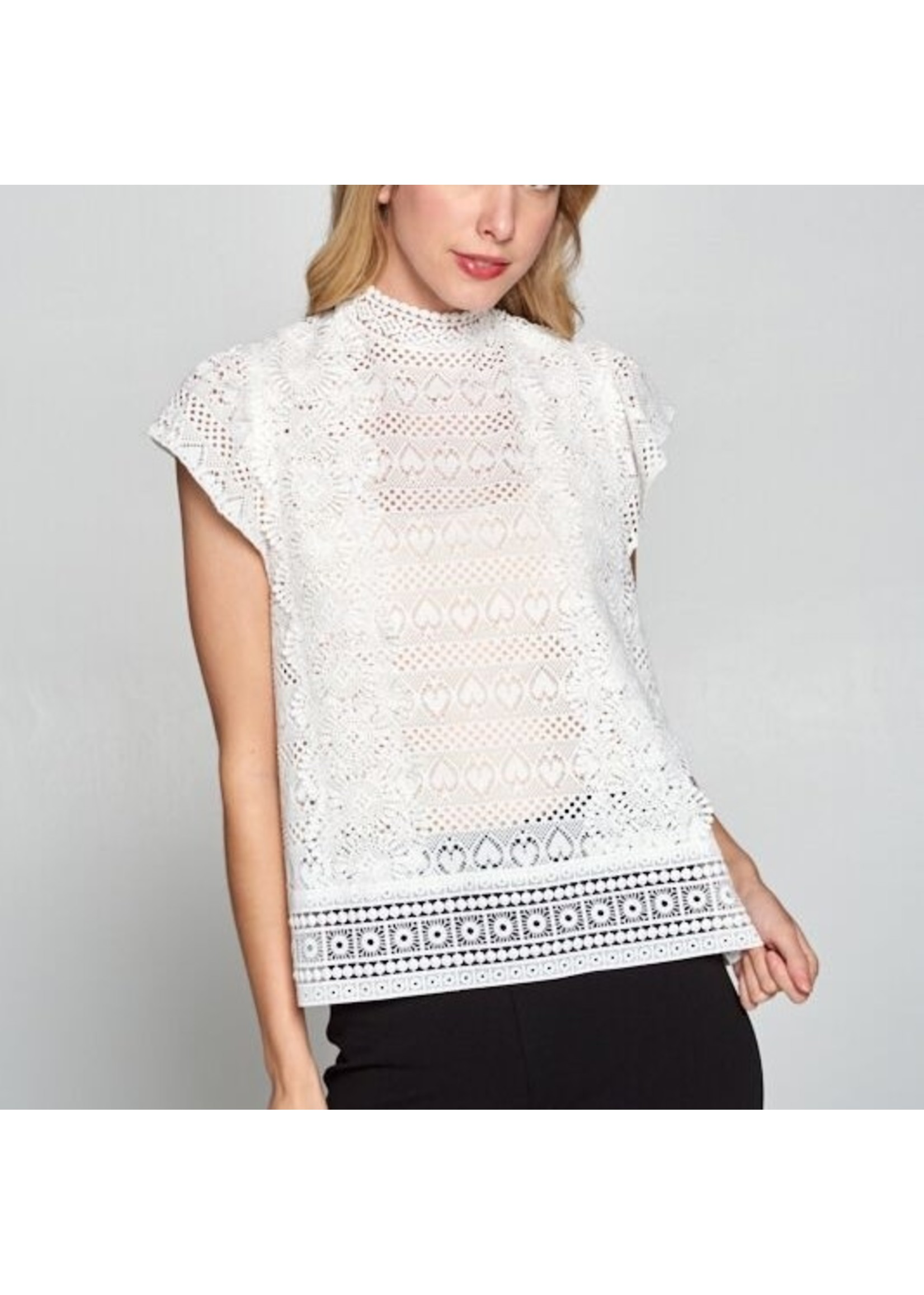 Ellison CROCHET TOP WHITE