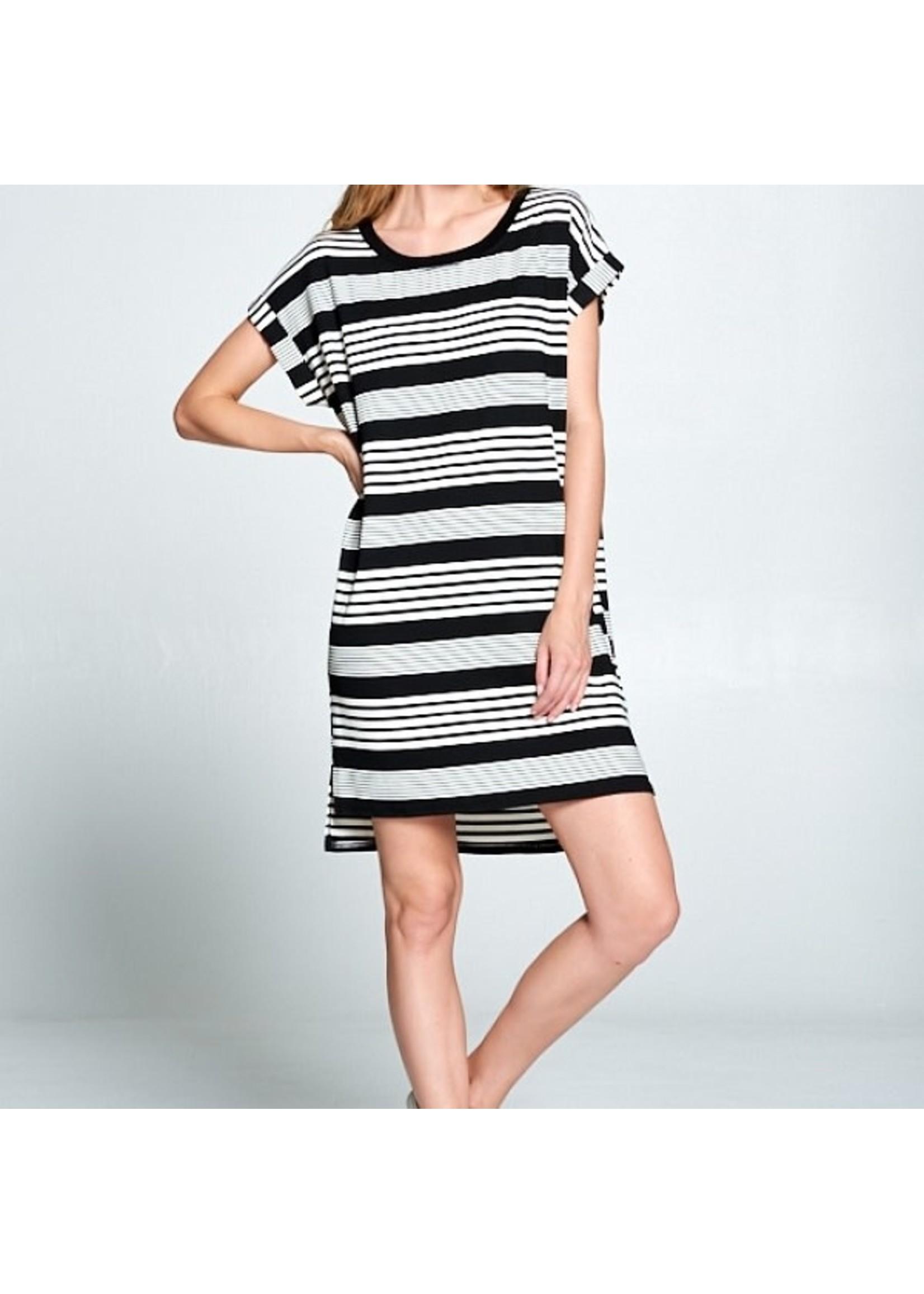 Ellison Basic Dimensions Striped Dress