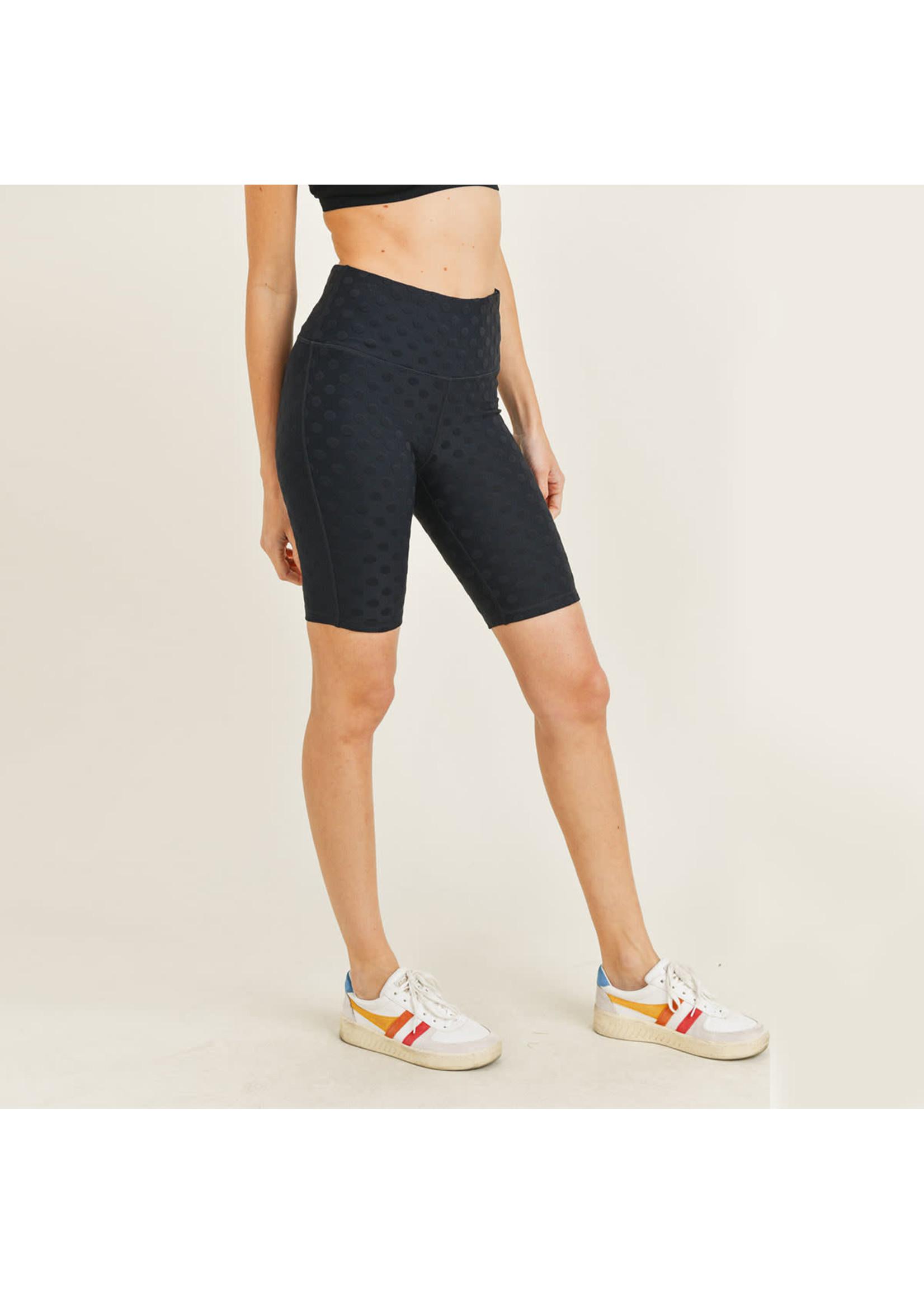 Mono B Black Polkadot Biker Shorts