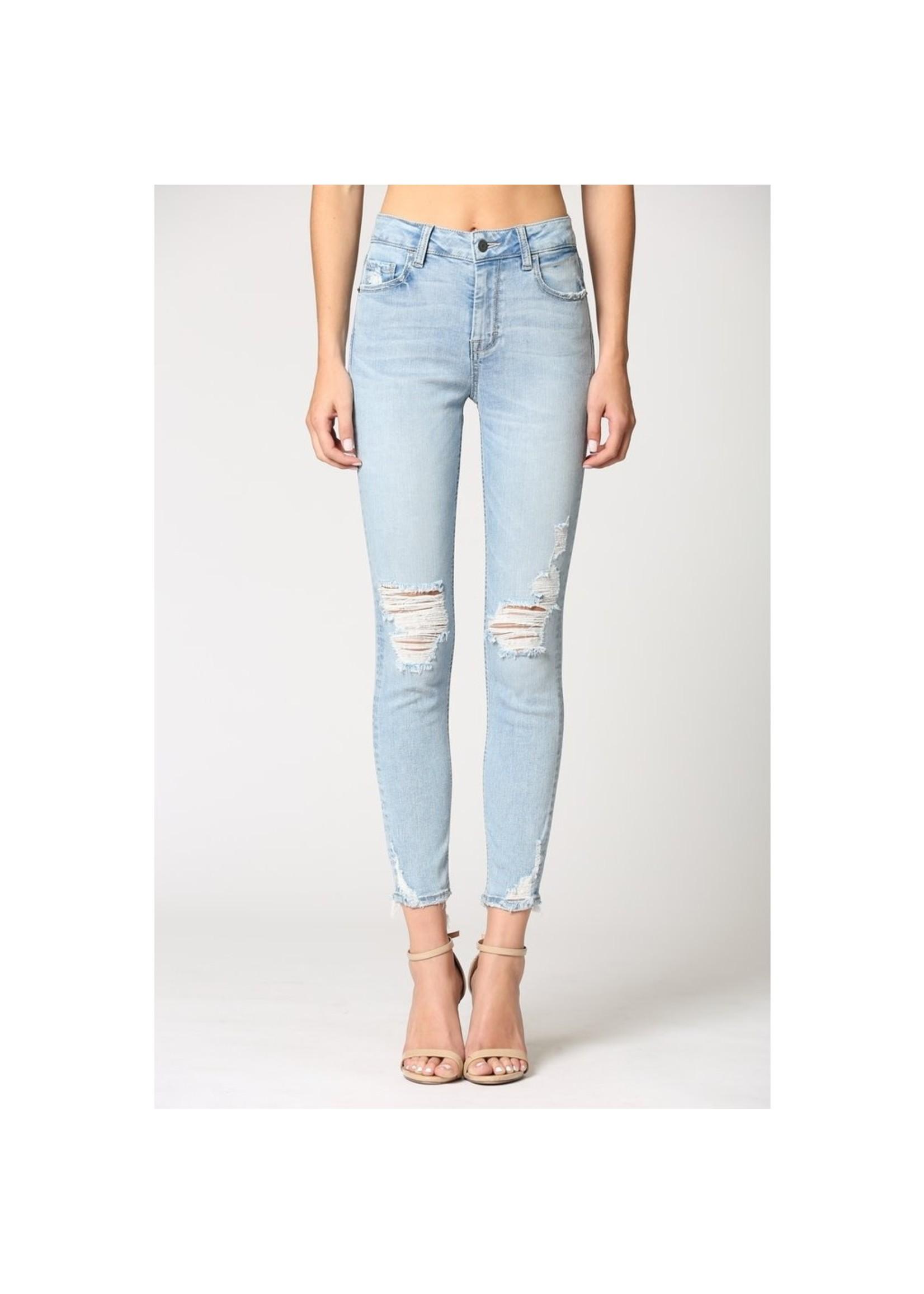 Hidden Jean Amelia Light Wash Distressed Skinny Jeans
