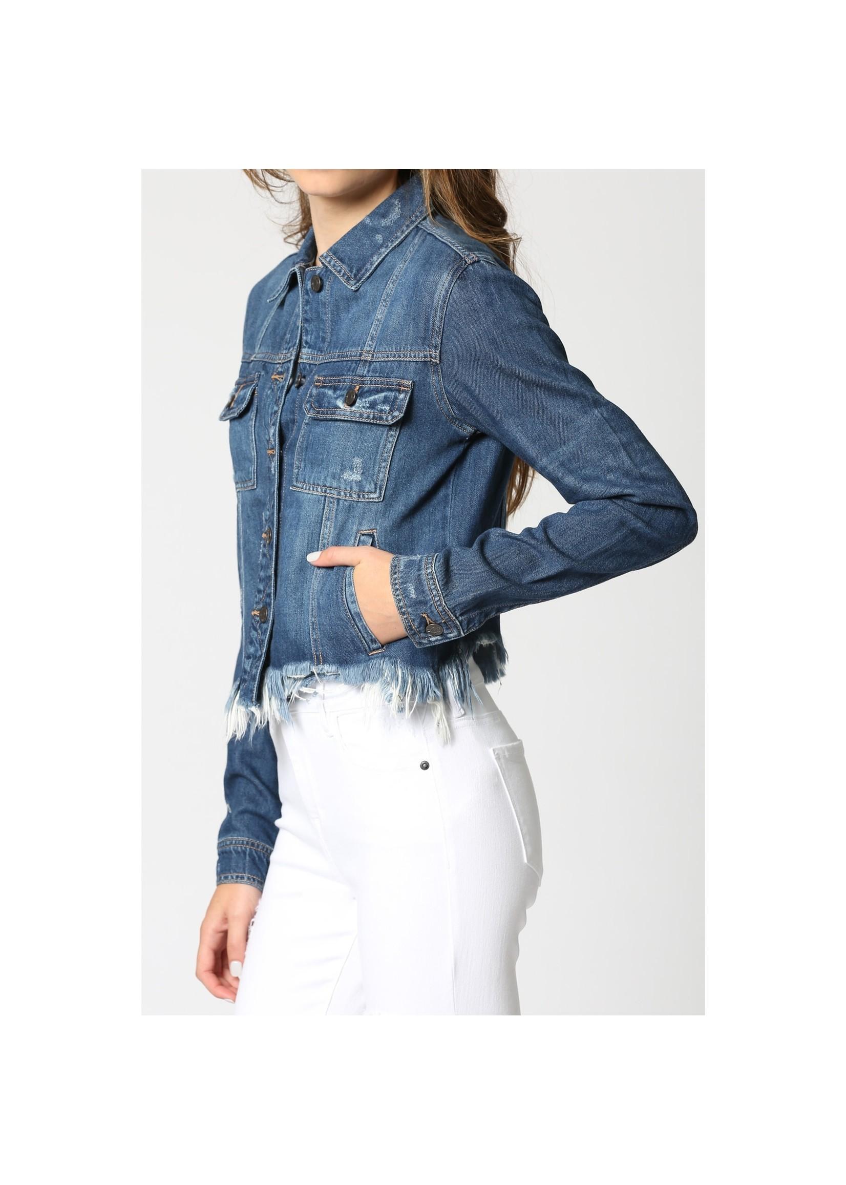 Hidden Jean Rebel Dark Wash Denim Jacket