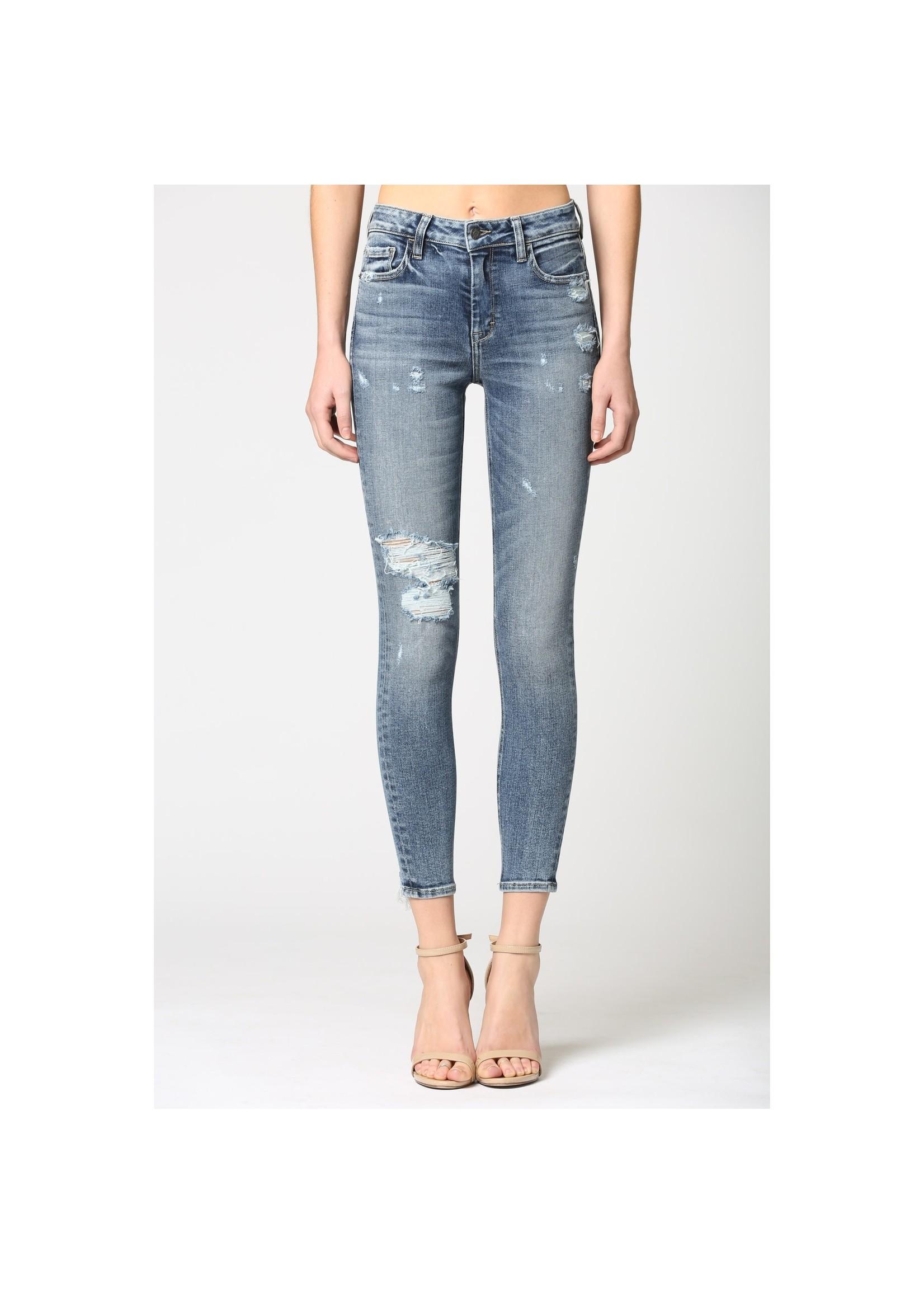 Hidden Jean Medium Wash Distressed Skinny Jeans
