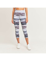 Mono B Zen Print Highwaisted Capri Leggings