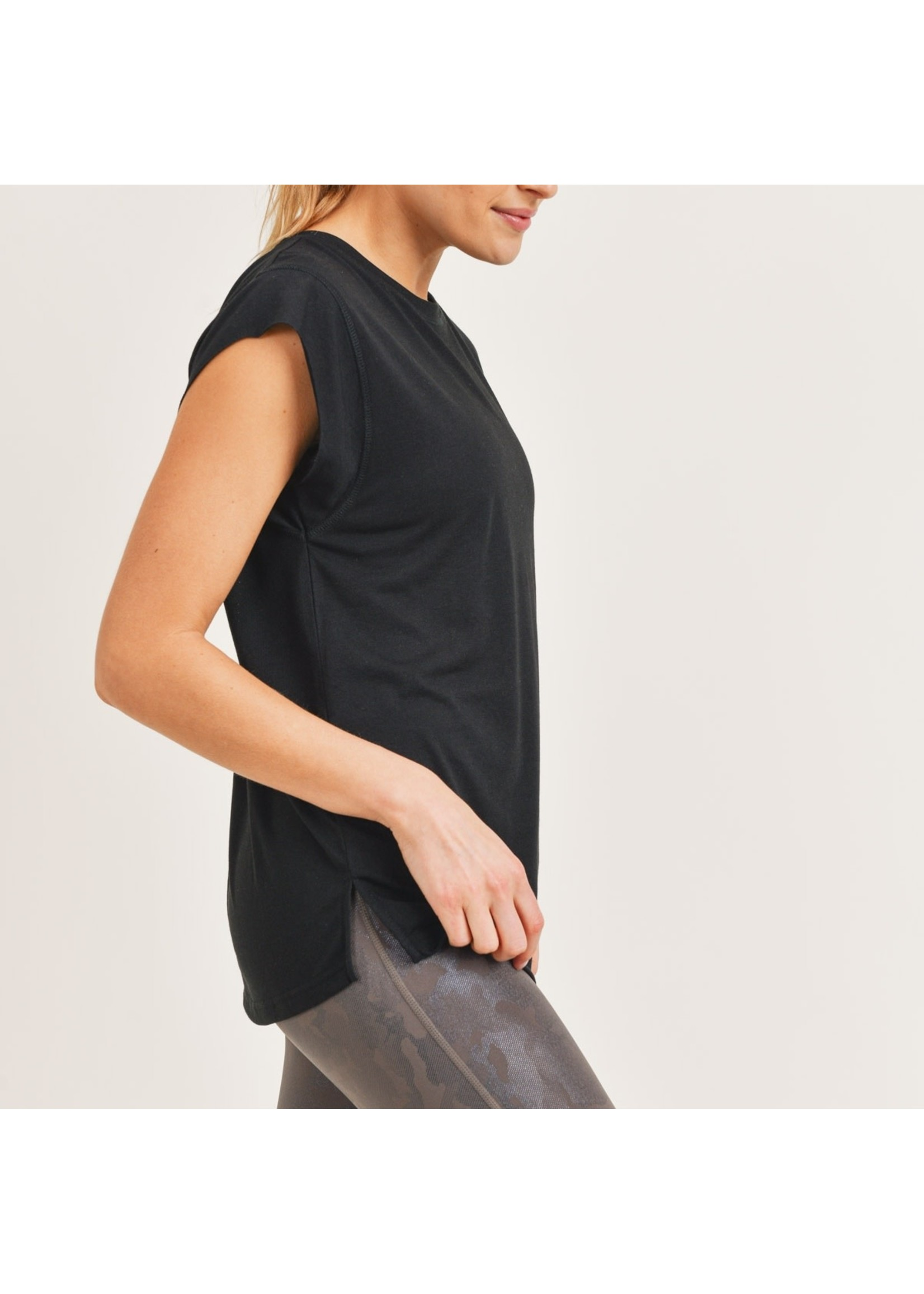 Mono B Perforated Swoop Top