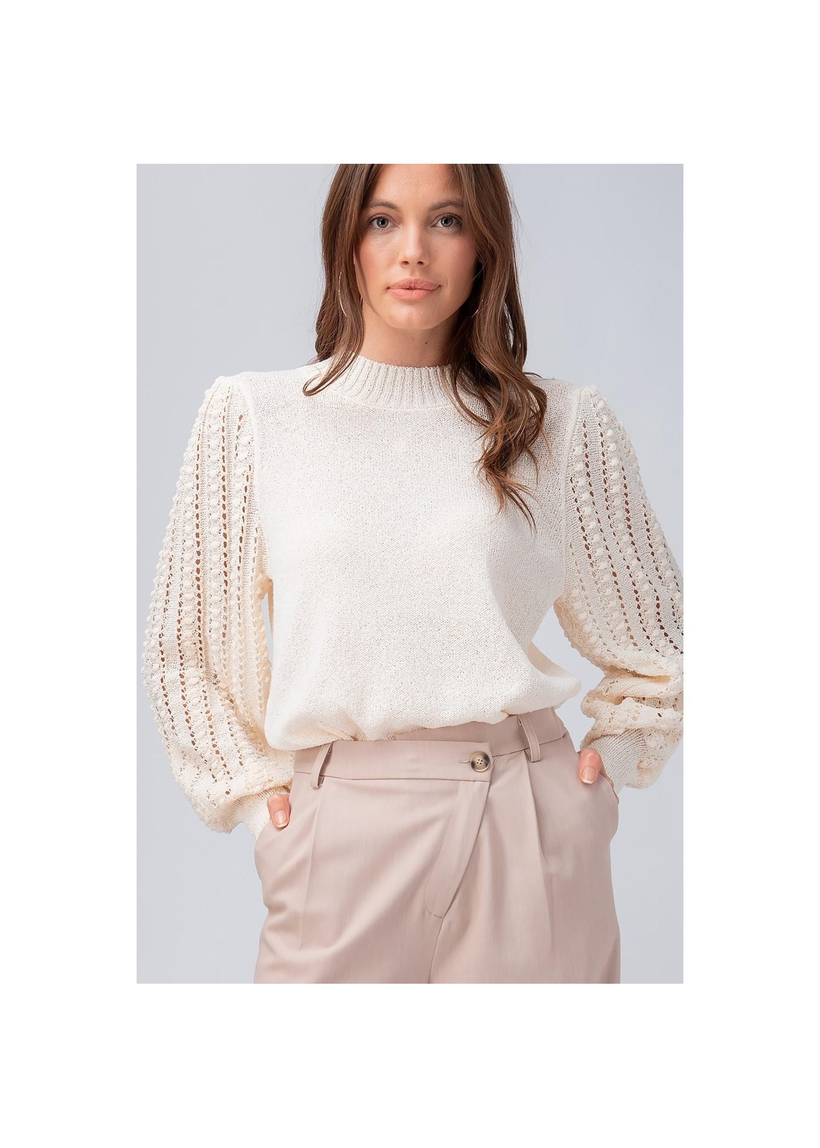 Urban Daizy Cream Puff Sleeve Knit Top