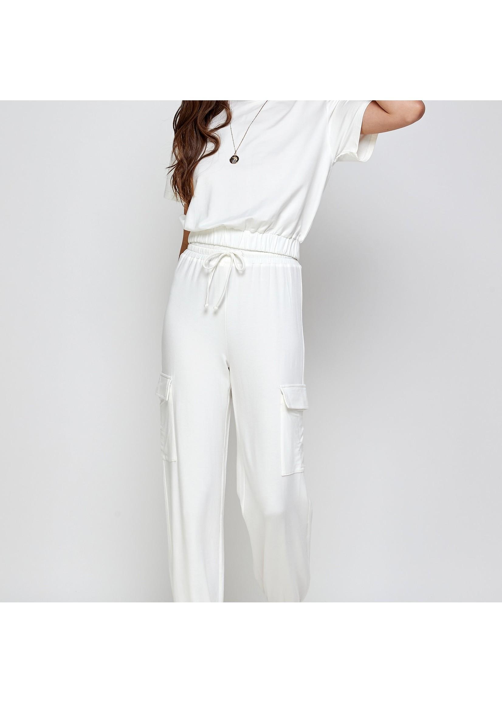 Ellison White Cargo Pants