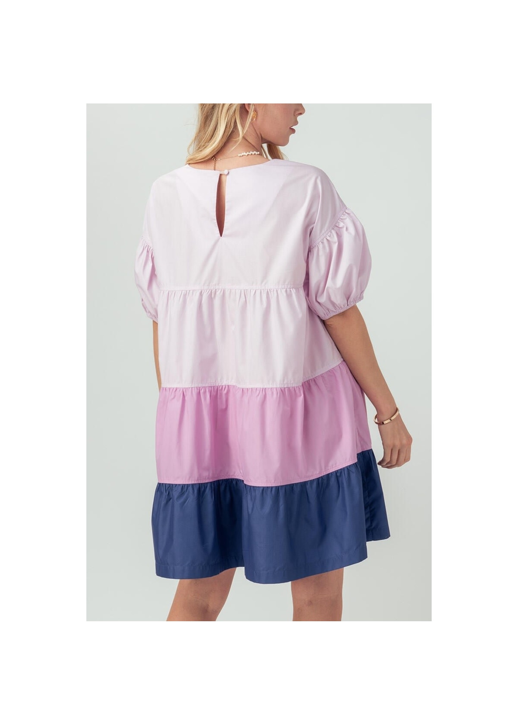 Urban Daizy Color Block Babydoll Dress