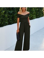 epretty Black Crisscross Jumpsuit