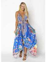 ranee Blue Halter Hawaii Dress