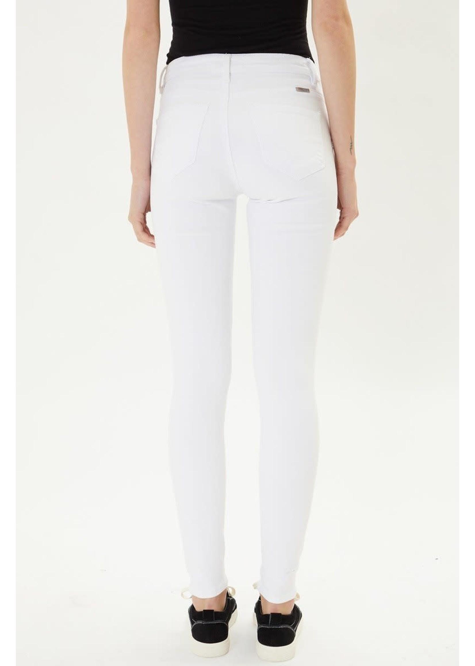 Kancan High Rise Super Skinny White Jeans