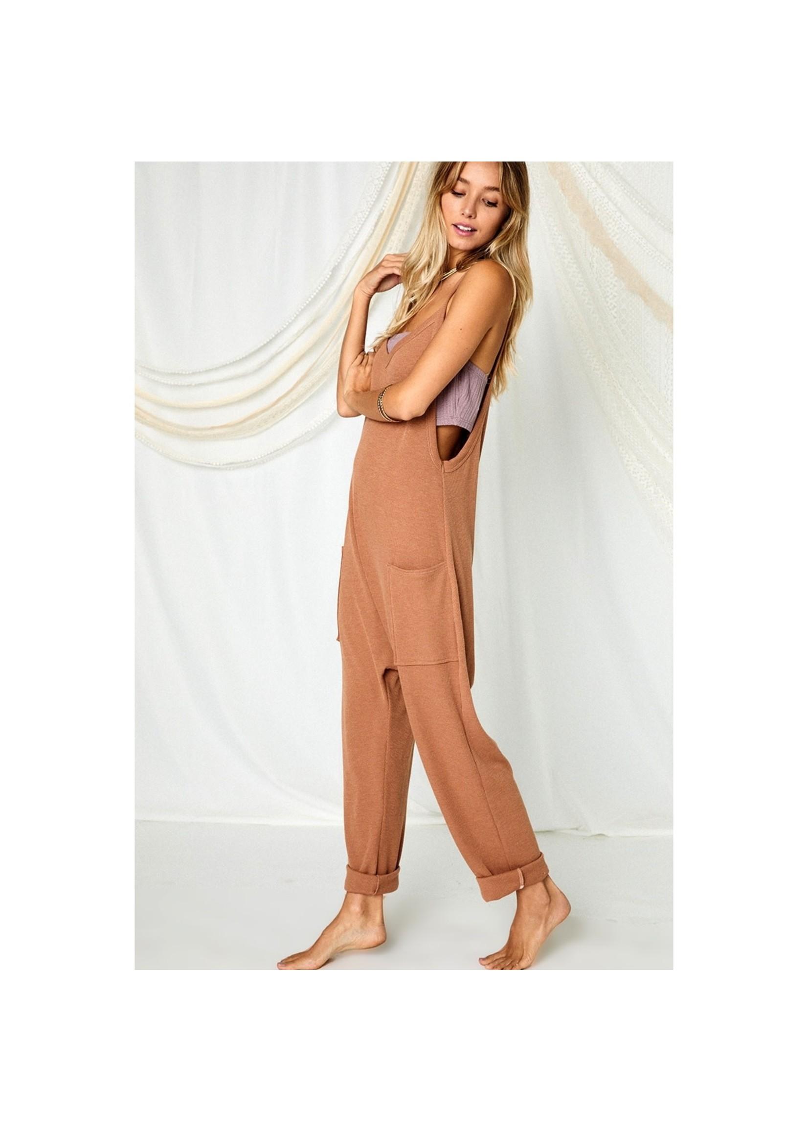Ces Femme Camel Lounge Jumpsuit