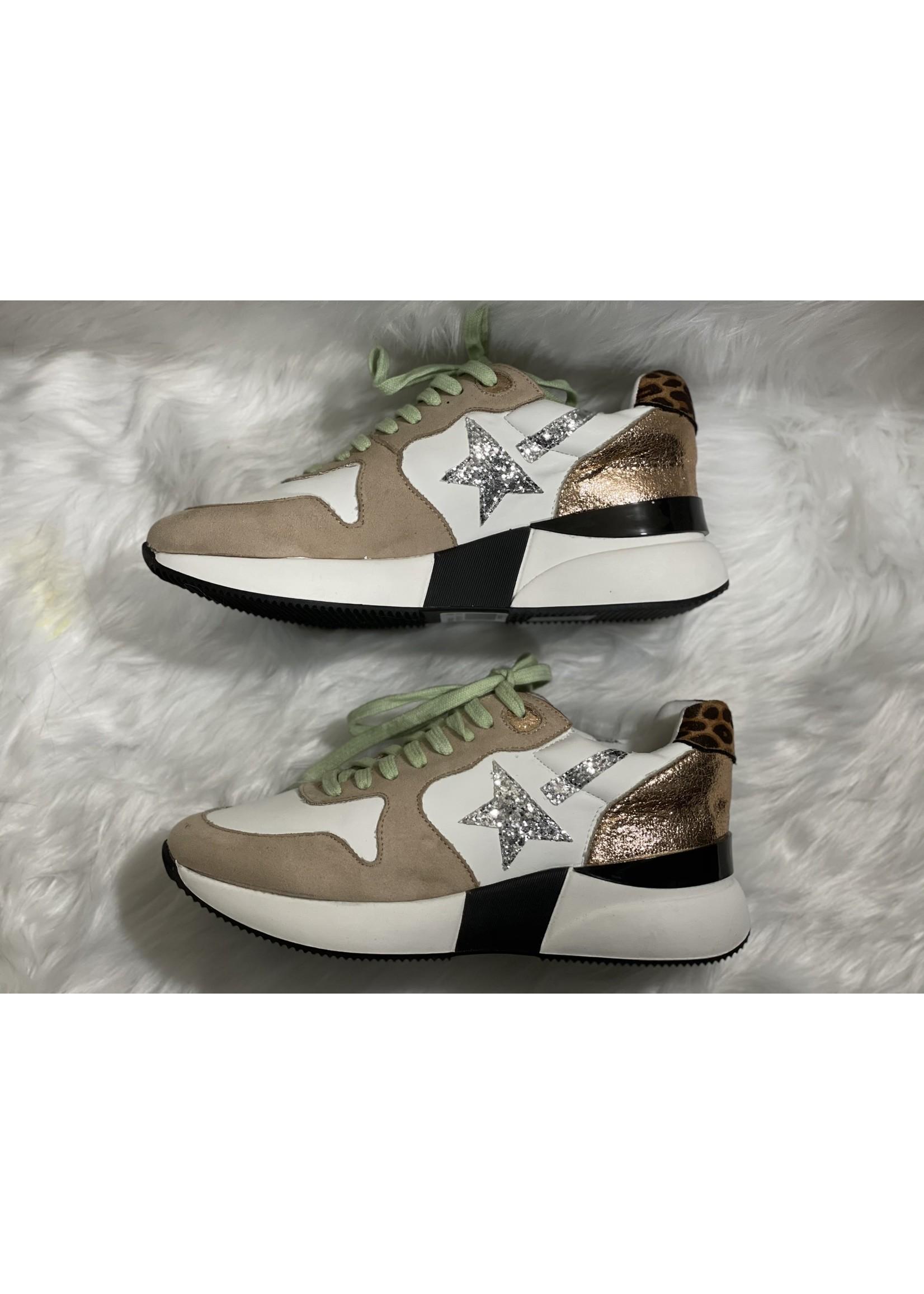 Shu Shop platform star sneaker with leopard
