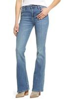 Hidden Jean Mid Rise Medium Wash Happi Flare Jeans