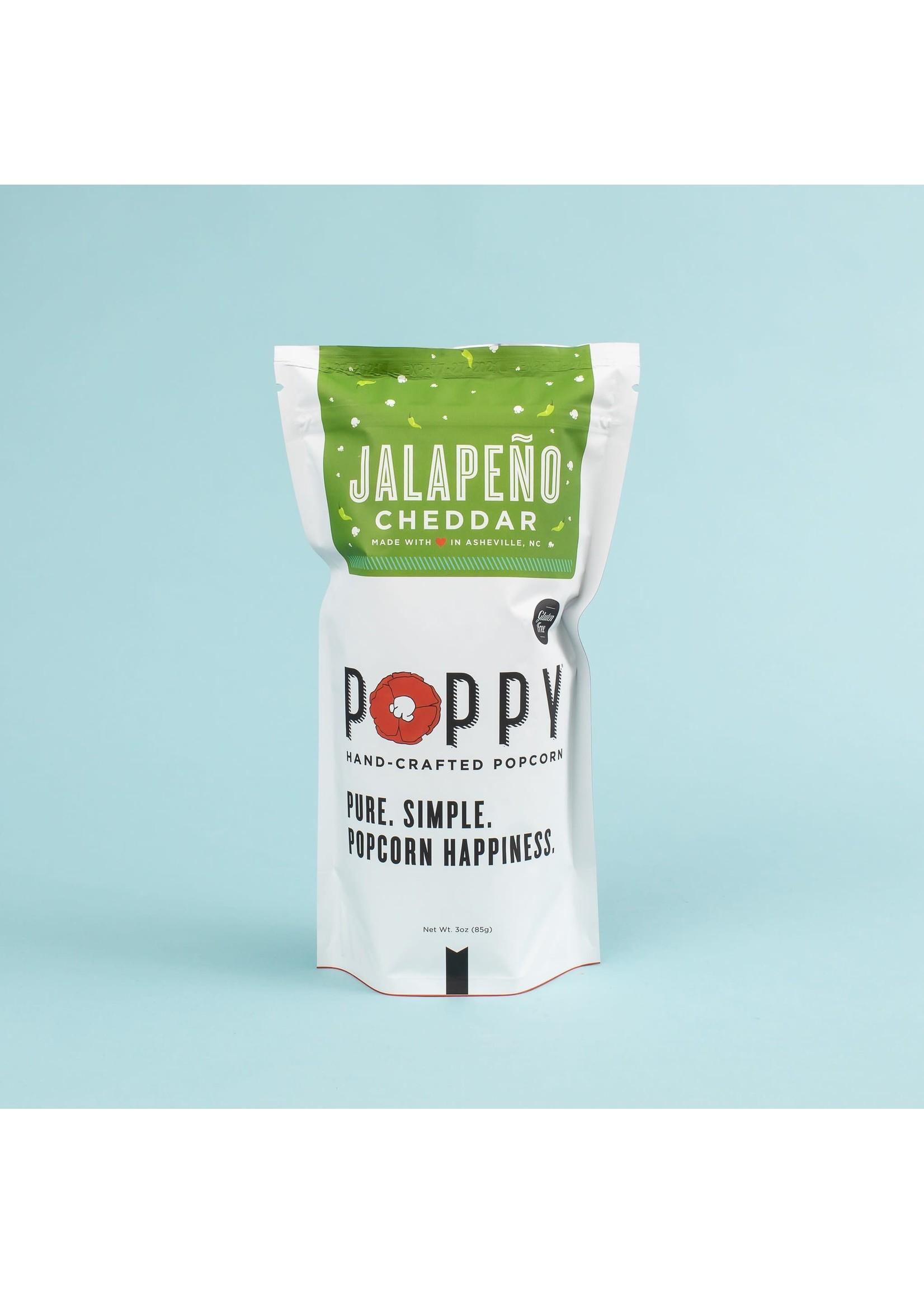 Poppy Handcrafted Popcorn Jalapeno Cheddar Popcorn