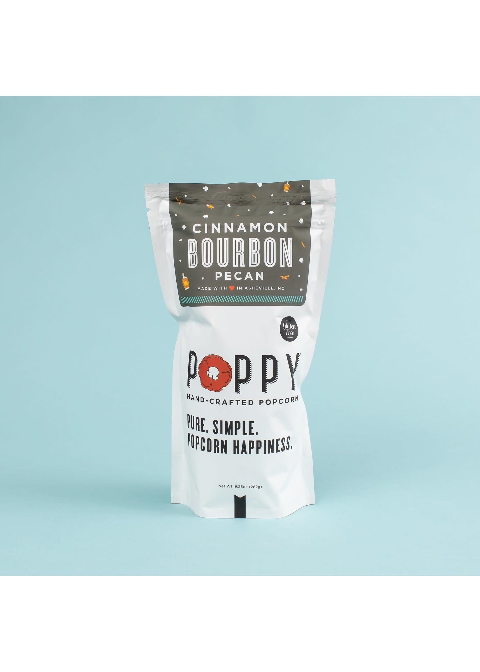 Poppy Handcrafted Popcorn Cinnamon Bourbon Pecan Popcorn