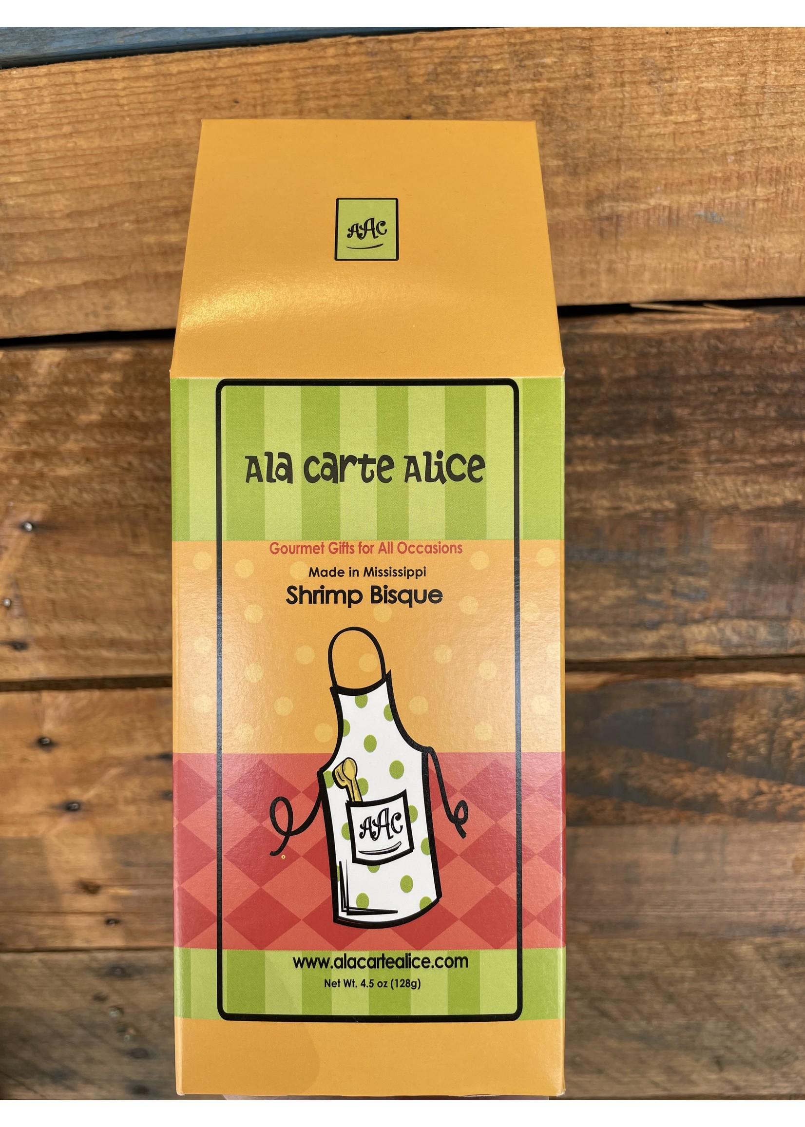 Ala Carte Alice Shrimp Bisque