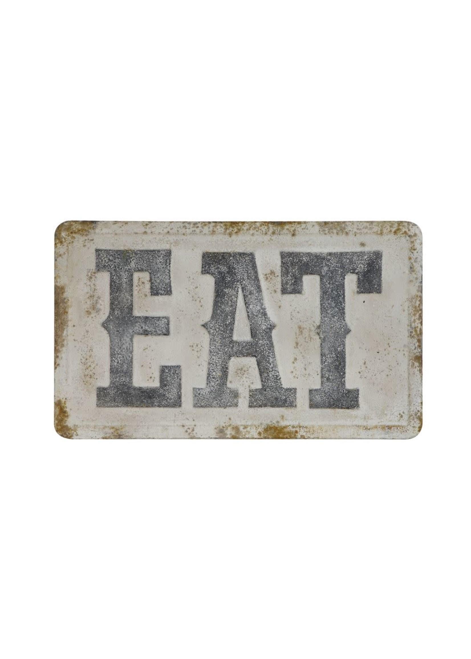 "Embossed Metal Wall Decor ""Eat"""