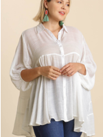 Off White Tiered Tunic Dress