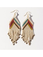 Ink + Alloy Ivory Gold Muted Chevron Earring