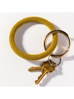 Ink + Alloy Citron Seed Bead Key Ring