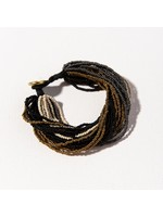 Ink + Alloy Black Ombre Multi Layer Seed Bead Bracelet