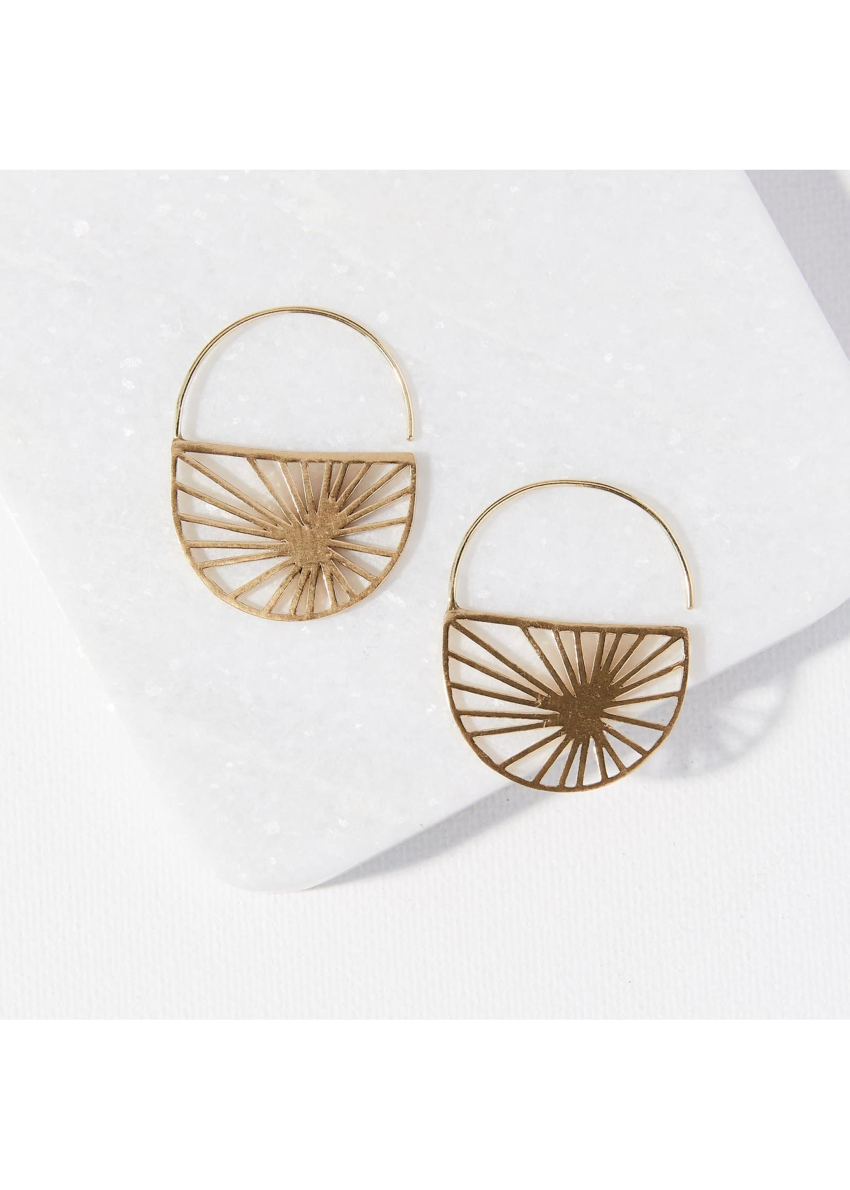 Ink + Alloy Brass Sunburst Earring