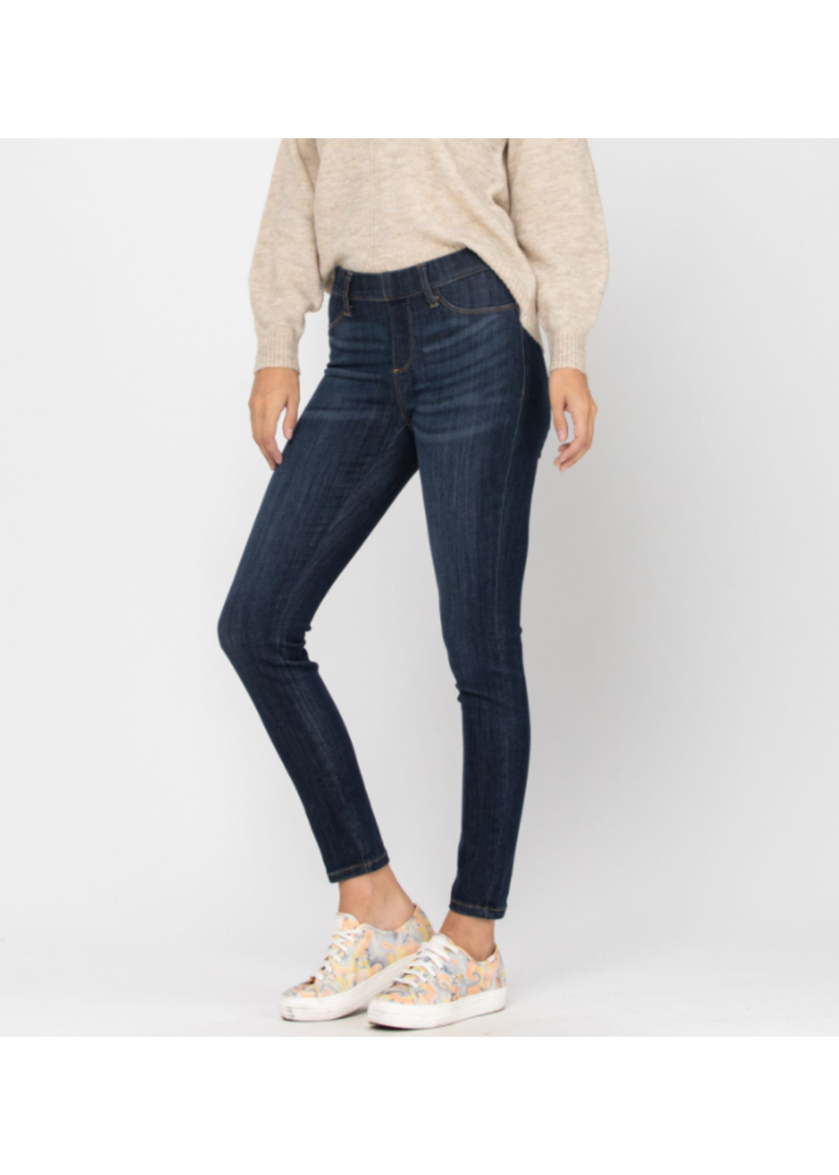 Judy Blue Mid-Rise Pull-On Skinny Jeggings