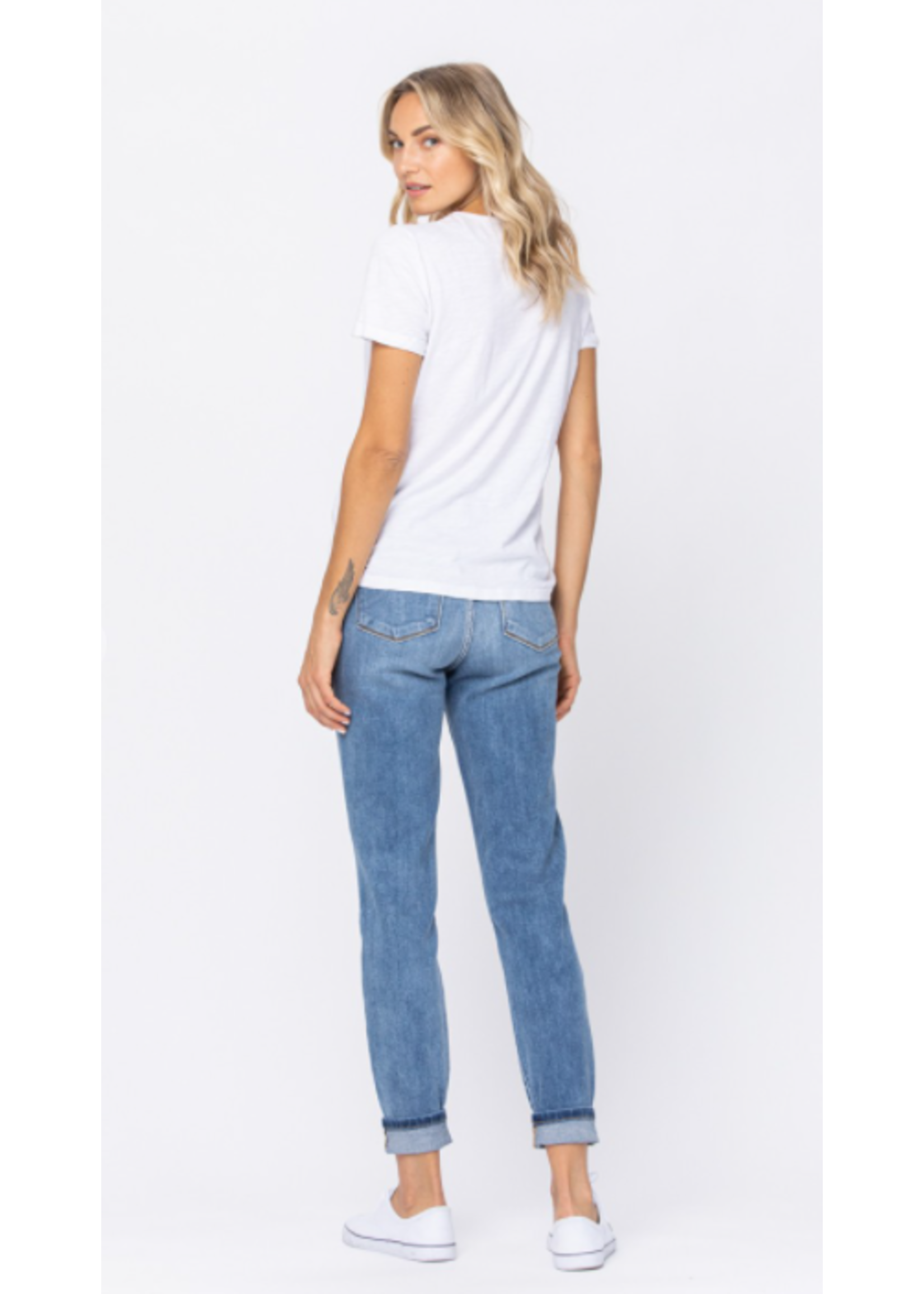 Judy Blue High Rise Cuffed Slim Fit Jeans