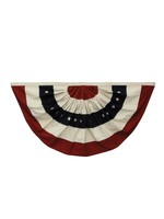 """creative Co-op Americana Bunting w/ Grommets 59""""L x 30""""H"""