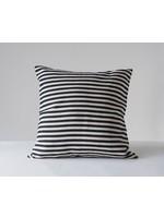 creative Co-op Square Black Striped Pillow