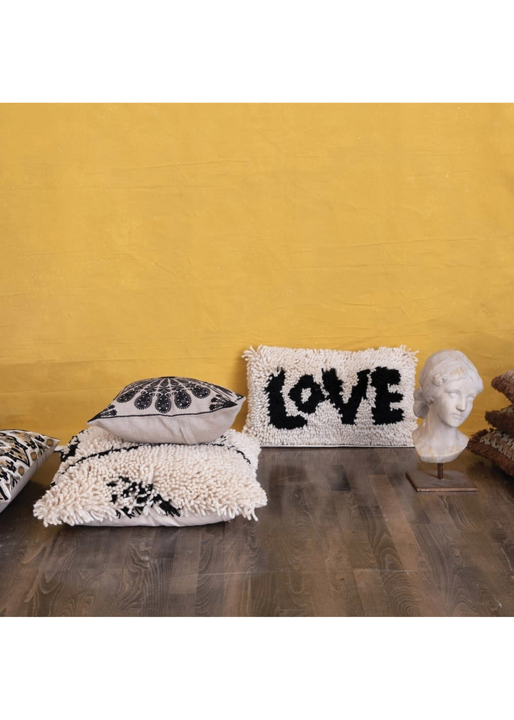 creative Co-op Shaggy Love Lumbar Pillow