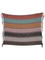 creative Co-op Multi-color Striped Cotton Throw