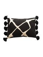 creative Co-op Black and White Lumbar Pillow
