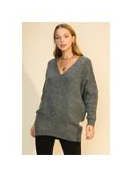 HYFVE Charcoal V-Neck Sweater