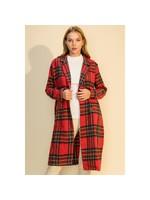 HYFVE Red Plaid Blazer Coat