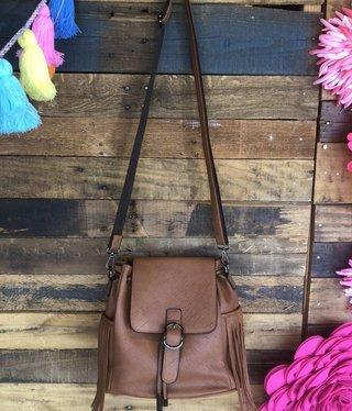 Fringe Backpack Purse