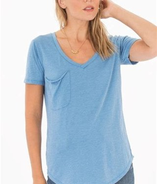 Sleek Jersey Pocket -parisian blue