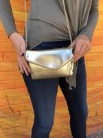 Gold Metallic Clutch